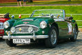 Retro Car Green Austin Healey 3000 Mk II (1962) Royalty Free Stock Photo