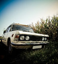 Retro car grunge style Royalty Free Stock Photos
