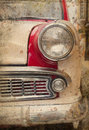 Retro car headlight in vintage style Stock Photography