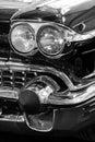 Retro car headlights Royalty Free Stock Photo