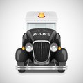 Retro car icon police with flashing lights vector illustration Stock Image