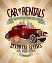 Retro car rentals design. Royalty Free Stock Photo