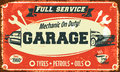 Retro car service sign Royalty Free Stock Photo