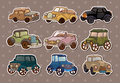 Retro car stickers Royalty Free Stock Photography