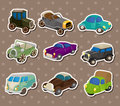 Retro car stickers Royalty Free Stock Photos