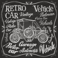 Retro car vector logo design template. vehicle