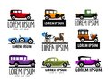 Retro car vector logo design template. vintage