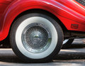 Retro car wheel closeup of Royalty Free Stock Image