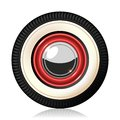 Retro car wheel a detailed illustration of the automobile gradient mash vector Stock Photo