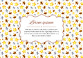 Retro card background with stars and text template, a4 size horizontal illustration