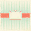 Retro card design vector illustration Stock Images