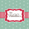 Retro card for Valentine's Day Royalty Free Stock Images