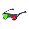 Retro cartoon 3D glasses Stock Images