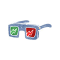 Retro cartoon 3D glasses Royalty Free Stock Photos