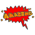 Retro cartoon amazing shout Royalty Free Stock Images