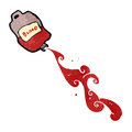 Retro cartoon blood bag Royalty Free Stock Photography