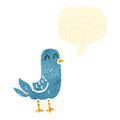 Retro cartoon bluebird Royalty Free Stock Image