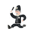 retro cartoon british policeman