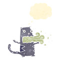 Retro cartoon burping cat Royalty Free Stock Photos