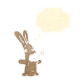 Retro cartoon burping rabbit Royalty Free Stock Images