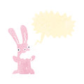 Retro cartoon burping rabbit Royalty Free Stock Photo