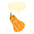 Retro cartoon butternut squash Stock Images
