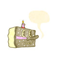 Retro cartoon cake slice Royalty Free Stock Image