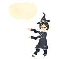 Retro cartoon with casting spell Royalty Free Stock Images