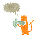 Retro cartoon cat with bad breath Royalty Free Stock Photo