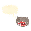 Retro cartoon cat meowing Stock Images