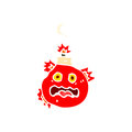 Retro cartoon cherry bomb Stock Images