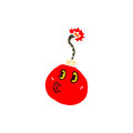 Retro cartoon cherry bomb Royalty Free Stock Image