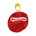 Retro cartoon christmas bauble Stock Images
