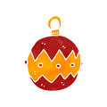 Retro cartoon christmas bauble Stock Photos