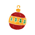 Retro cartoon christmas bauble Stock Photo
