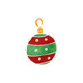 Retro cartoon christmas bauble Royalty Free Stock Photo
