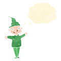 Retro cartoon christmas elf Royalty Free Stock Image