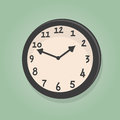 Title: Retro cartoon clock