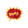 Retro cartoon comic book woof Stock Image