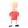 Retro cartoon curious man Royalty Free Stock Photo