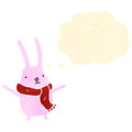 Retro cartoon cute bunny rabbit Royalty Free Stock Photography