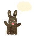 Retro cartoon cute little rabbit Royalty Free Stock Image