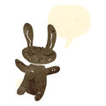 Retro cartoon cute rabbit Royalty Free Stock Photography