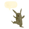 Retro cartoon dancing rabbit Royalty Free Stock Images