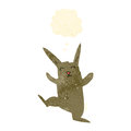 Retro cartoon dancing rabbit Royalty Free Stock Photography