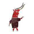 Retro cartoon devil illustration on plain white background Royalty Free Stock Photo