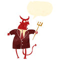 Retro cartoon devil in suit Royalty Free Stock Photo