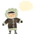 Retro cartoon eskimo with thought bubble Royalty Free Stock Photography