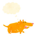 retro cartoon fat little dog Royalty Free Stock Photo