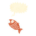 Retro cartoon fish Royalty Free Stock Photos